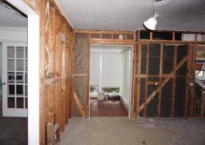 dryman restoration mid project walls
